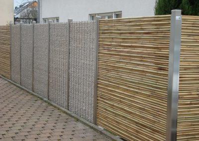 Edelstahlgabionen und Bambus (21)