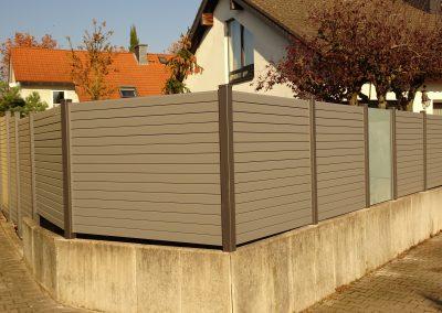 Alu Sichtschutz auf Mauerwinkel (6)